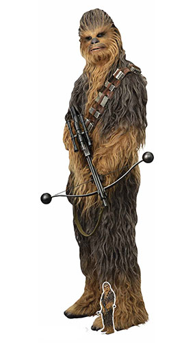 Chewbacca Star Wars El Ascenso De Skywalker Mega Recorte De Cartón De Tamaño Natural 231Cm