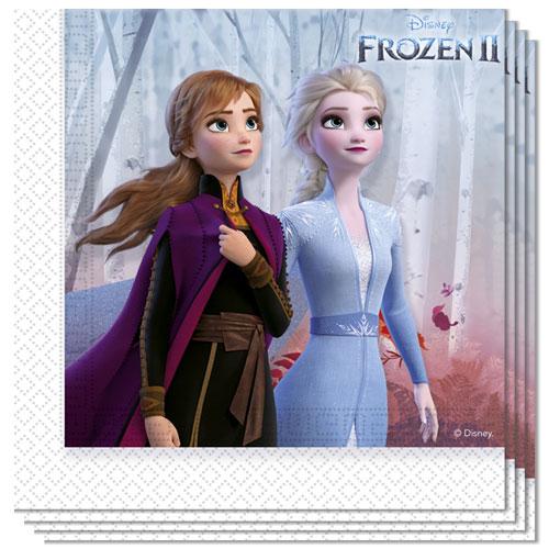 Disney Congelado 2 Servilletas De Almuerzo 33Cm 2Ply - Paquete De 20