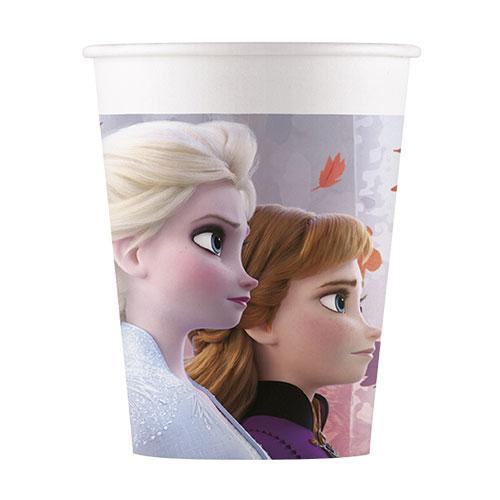 Disney Congelado 2 Vasos De Papel 200 Ml - Paquete De 8