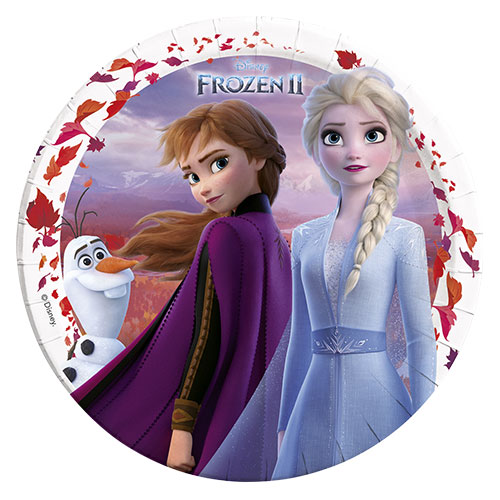 Disney Congelado 2 Platos Redondos De Papel 23Cm - Paquete De 8