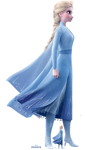 Elsa Poderes Mágicos Disney Frozen 2 Recorte De Cartón De Tamaño Natural 183Cm