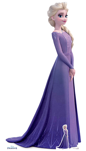 Elsa Vestido Violeta Disney Frozen 2 Recorte De Cartón De Tamaño Natural 181Cm