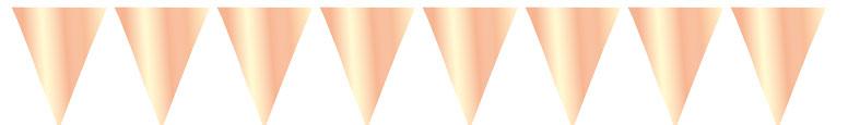 Metálico Gigante Oro Rosa Papel De Aluminio Banderín Empavesado 10M