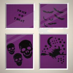 Decoraciones de ventana de Halloween