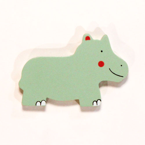 Hipopótamo Juguete Magnético De Madera