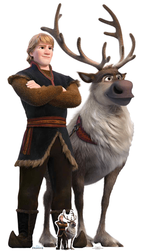 Kristoff Y Sven Disney Congelado 2 Recorte De Cartón De Tamaño Natural 195Cm