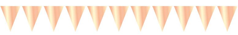 Metálico Oro Rosa Papel De Aluminio Banderín Empavesado 10M