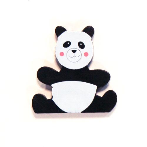 Panda De Juguete Magnético De Madera