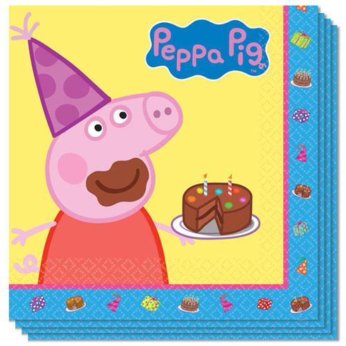 Servilletas De Almuerzo Peppa Pig 33Cm 2Ply - Paquete De 16