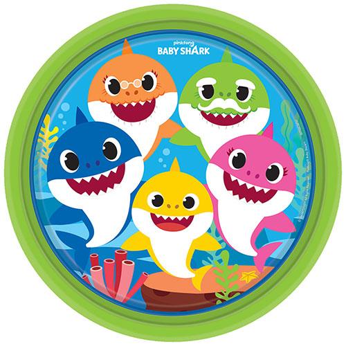 Tiburón Bebé Redondo Platos De Papel De 23 Cm - Pack De 8