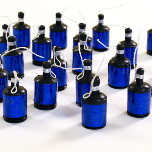 Azul Holográfico Fiesta Poppers - Pack de 20