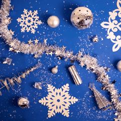 Decoraciones de la fiesta de navidad
