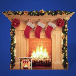 Recortes de cartón de tamaño natural de Navidad