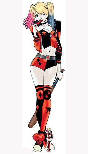 Dc Comics Harley Quinn Bate De Béisbol Tamaño Natural Cartón Recortado 177 Cm
