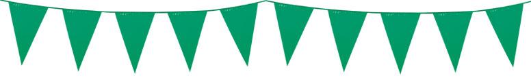 Banderín De Plástico Verde 10M