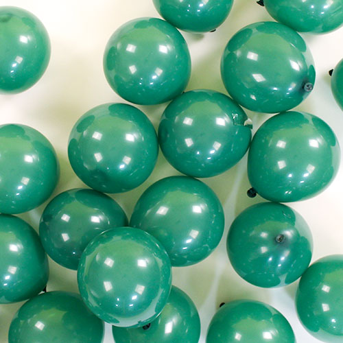 Mini Globos Redondos Verdes De Látex Qualatex 13Cm / 5 In - Paquete De 100