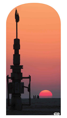 Jakku Sunset Star Wars Foto Telón De Fondo Recorte De Cartón 184Cm