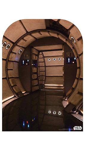 Millennium Falcon Corridor Tamaño Infantil Star Wars Foto Telón De Fondo Recorte De Cartón 130 Cm