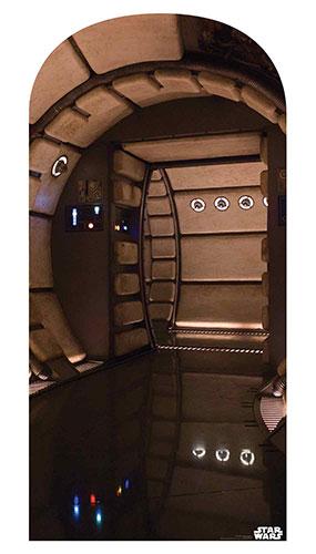 Millennium Falcon Corridor Star Wars Foto Telón De Fondo Cartón Recorte 184Cm