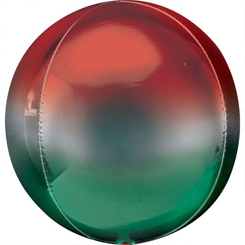 Globo De Helio De Lámina De Orbz Rojo Y Verde Ombre 38Cm / 15 In