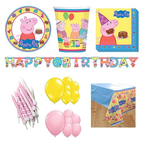 Pack de fiesta de lujo Peppa Pig para 16 personas