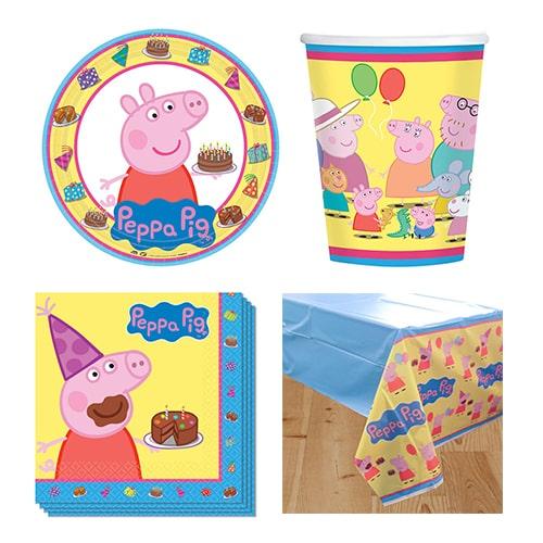 Paquete temático Peppa Pig Theme 8 Person Value Party