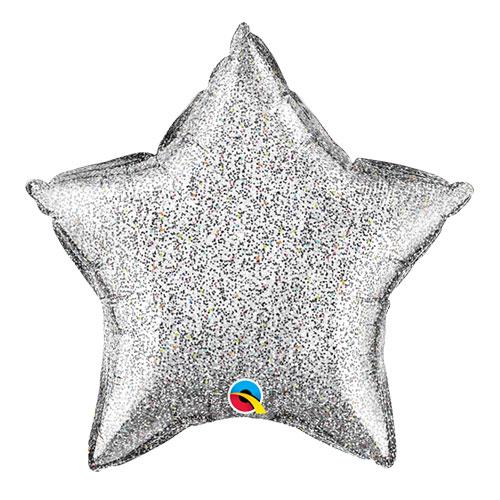 Globo Plateado Estrella De Plata Con Globo De Helio Qualatex 51Cm / 20 In