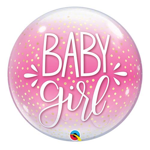 Niña Confeti Puntos Baby Shower Burbuja Helio Qualatex Globo 56Cm / 22 In