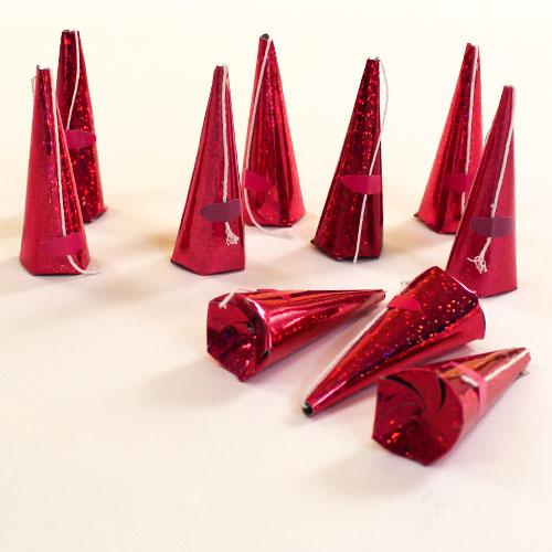 Poppers de Fiesta Rosado Caliente Holográficos - Paquete de 10