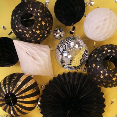 Decoraciones de fiesta de año nuevo