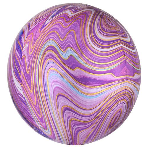Púrpura Marblez Orbz Lámina De Helio 38Cm Globo / 15 En