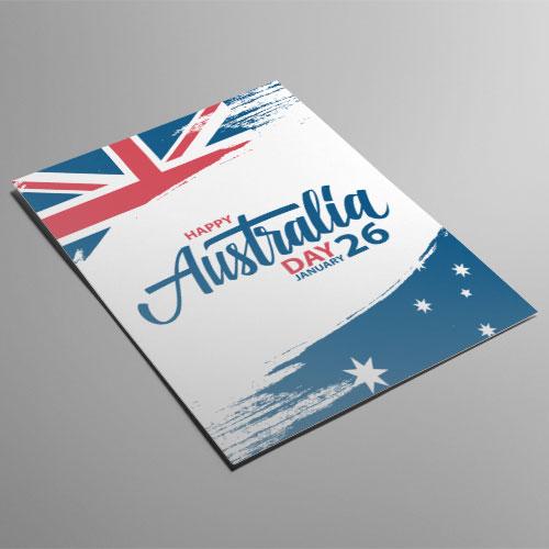 Australia Día Efecto De Pincel A2 Cartel Pvc Fiesta Signo Decoración 59Cm X 42Cm