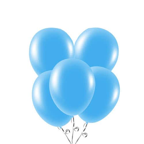 Globos De Látex Biodegradable Azul Bebé 23Cm / 9 In - Paquete De 20