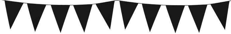 Banderín De Plástico Negro Bunting 10M