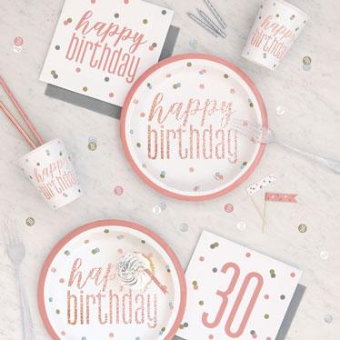 Cumpleaños De Oro Rosa