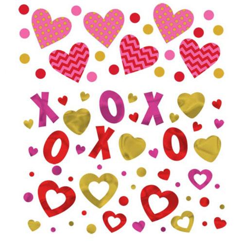 Mesa De Valor De San Valentín Confeti 34 Gramos - Paquete De 3