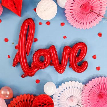 Globos De Frase Del Día De San Valentín
