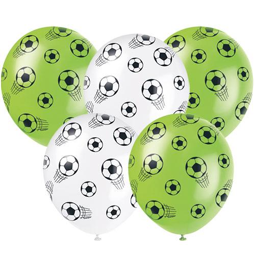 Globos De Látex Biodegradables Surtidos De Fútbol 3D 30Cm / 12 In - Paquete De 5