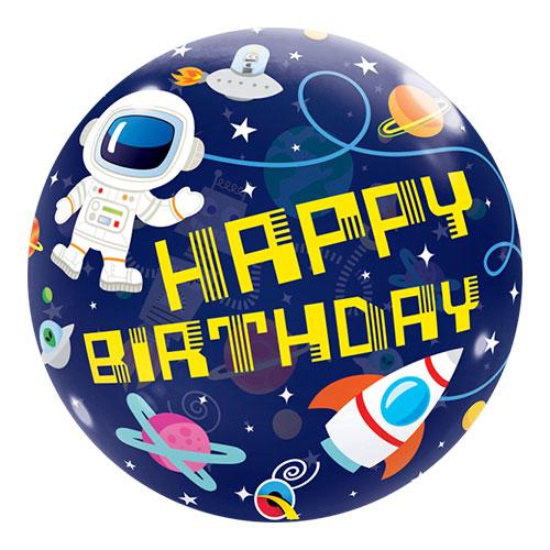 Cumpleaños Espacio Exterior Globo Helio Qualatex Globo 56Cm / 22 In