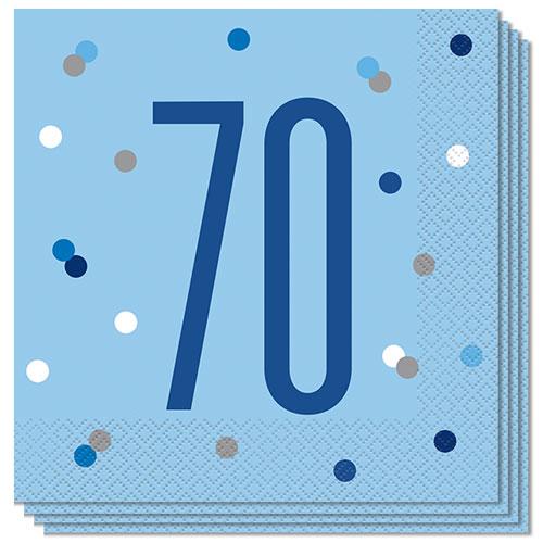 Servilletas De Almuerzo Edad De Brillo Azul 70 33Cm 2Ply - Paquete De 16