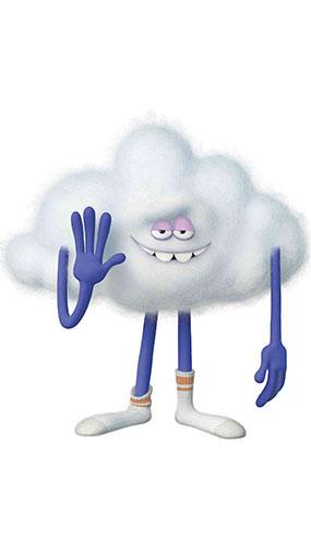 Cloud Guy Trolls World Tour Estrella Mini Recorte De Cartón 69Cm