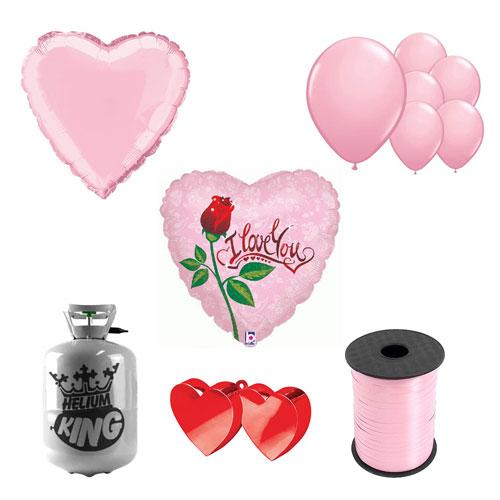 Gota De Rocío Amor Pequeño Paquete De Gas Helio De San Valentín Con Globos