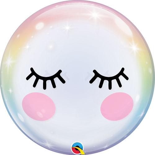 Pestañas Burbuja Globo De Helio Qualatex 56Cm / 22 In