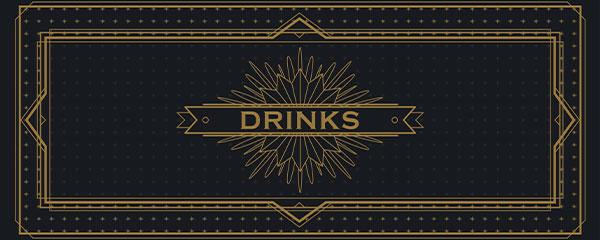 Bebidas Doradas Decoración De Letrero De Fiesta De Pvc 60 Cm X 25 Cm