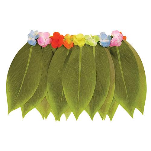 Falda De Hojas De Hula Con Flores Disfraces De Hawaii