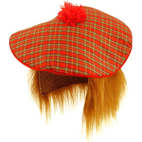 Sombrero Escocés Con El Pelo De Jengibre Disfraces