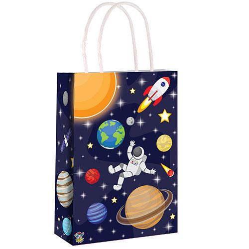 Bolsa De Papel Espacial Con Asas 21Cm
