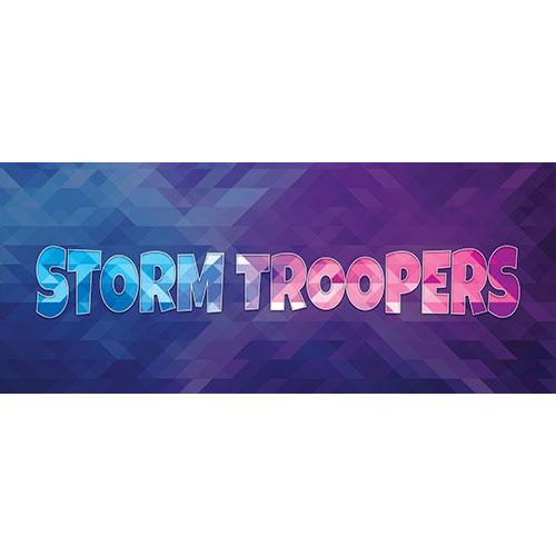 Storm Troopers Pantalla De Inicio Pvc Fiesta Signo Decoración 60Cm X 25Cm
