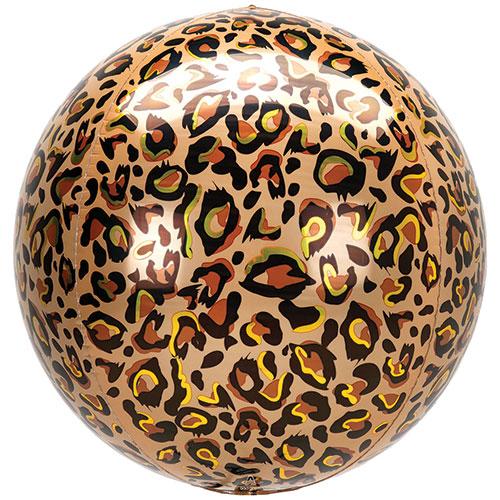 Estampado De Leopardo Animalz Globo De Helio De Aluminio Orbz 38Cm / 15 In