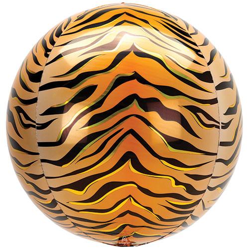 Animalz Tigre De Papel De Impresión Orbz Globo De Helio De 38 Cm / 15 En